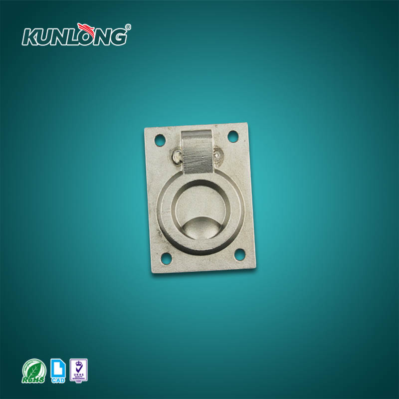 SK4-9002-2 KUNLONG Marine Steel Concealed Door Flat Handle